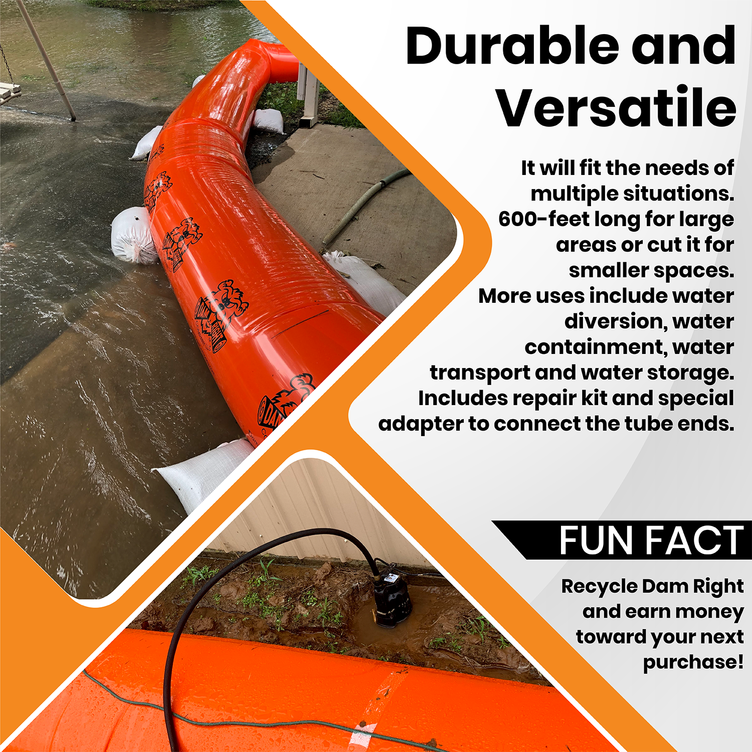 Durable and versatile flood prevention